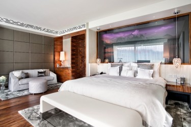 The Impressive New Presidential Suite At The Grand Resort Bad Ragaz Boasts A Smokers' Lounge, A Swarovski Crystal Ceiling And Gold Dust In The Wallpaper